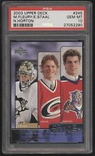 2003-04 UD Young Guns #245 Marc-Andre Fleury Eric Staal Horton RC PSA 10