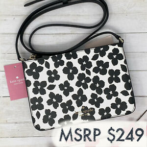 NEW Kate Spade Darcy Small Slim Crossbody Floral Leather Purse