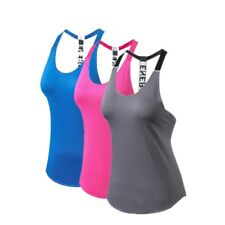 Women Yoga Tank Top Vest Gym Fitness Backless Sleeveless Quick Dry Jogger Shirt