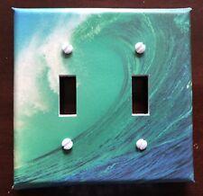Surfing Light Switch Cover Plate Big Wave Beach Surf Ocean Coastal Island Decor