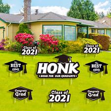 Officygnet 2021 Graduation Yard Sign Decorations - 8 Pcs Congrats Grad Class of