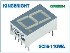 7 Segment Display Green Common Cathode 14.2mm Kingbright SC56-11GWA