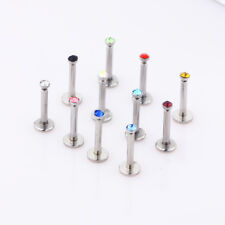 Wholesale Mix 10 pcs Stainless steel Tragus ear Labret Lip Piercing Screw top