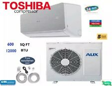 16 SEER - 12000 BTU Ductless A/C & Heat Mini Split With WiFi!: 1 TON w/KIT: 220V