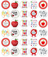 30 x Thank You Teacher Cupcake Toppers Edible Wafer Paper Fairy Cake