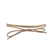 Lux Accessories Tan Beige Suede Cord Wrap Choker Bow Necklace