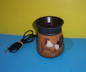 Scentsy Wax Warmer Rooster Retired Model DSW-RSTR W/ Bulb Display