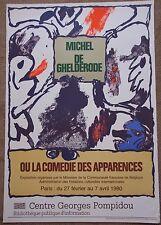 Pierre ALECHINSKY Affiche Michel de Ghelderode ou la comédie des apparences ***