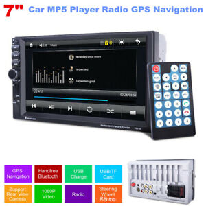 "7.0"" Touch Screen HD Black Car MP5 player and GPS Bluetooth FM Universal 12V Kit"