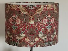 HANDMADE LAMPSHADE  Strawberry Thief William Morris  Red cotton new