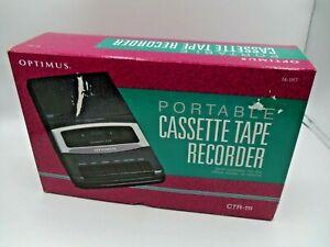 Optimus Model CTR-111 Portable Cassette Tape Recorder Player New Open Box NIOB