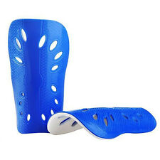 1 Pair Football Shin Pads for Kids Adults - Blue,16.3x11cm / 6.4x4.3inch O3R8