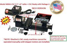 "SHERLINE 4000A-CNC 3.5"" X 8"" CNC LATHE (INCH) + ""A"" Package (METRIC = 4100A-CNC)"