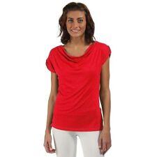 Magliette da donna basici viscosa a girocollo
