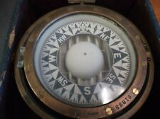 Vintage Rare E.S. Ritchie Nautical Gimbal Compass 61633 Solid Brass in Box