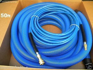 """Carpet Cleaning   50ft Vacuum Solution Hoses 1.5"""" wand cuff"""