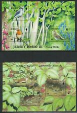 More details for various channel islands miniature sheets all u/m under face value (a89)