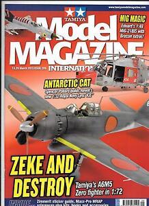 Tamiya Model Magazine Issue 209, MAR 2013 VF to NM, tamiya A6M5 Zero 1/32