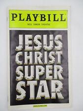 JESUS CHRIST SUPER STAR PLAYBILL 2012 w/ TICKET STUB NEW YORK CITY BROADWAY
