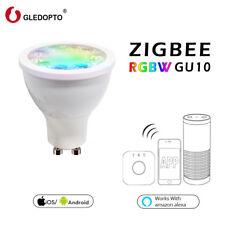 GLEDOPTO ZigBee RGBW GU10 5W LED Spotlight IP20 Mobile APP Control Amazon Alexa