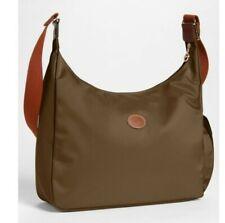 Longchamp Le Pliage Hobo Green Canvas bag purse