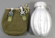 OLD VINTAGE WATER BOTTLE + COVER POLISH ARMY MODEL WW2 CANTEEN - POLAND MILITARY
