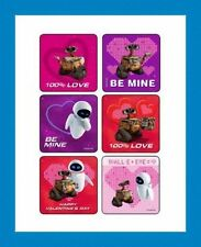 18 Disney Wall-E & Eve Valentine Stickers Party Favors