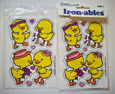 80's Ironables  Happy ducklings ducks  Scratch & Sniff Iron on patches