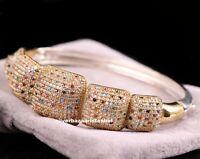 Turkish Handmade 925 Sterling Silver Multi Color stone Ladies Womans Bracelet