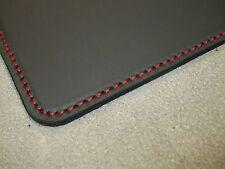 Schreibunterlage Schreibtischunterlage Echt Leder schwarz 60 x 40 cm ROTE NAHT