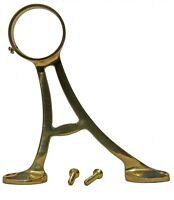 "Lacquered Brass Floor Bracket Fitting 2"" Bar Foot Rail   Renovator's Supply"