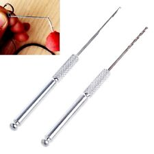 2x Carp Fishing Fish Bait Making Rigs Drill Hook Crochet Needle Tackle Tool Set
