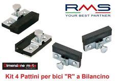 """0230 - Kit 4 Pattini Freno """"RMS"""" serie a Bilancino per bici """"R"""" Viaggio bacchett"""