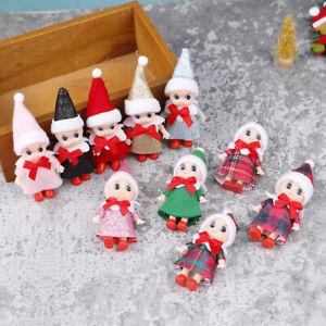 1Pc 9CM Christmas Doll Baby Elves Dolls Movable Arm Leg Elf Doll Dollhouse `