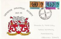 25 OCT 1965 UNITED NATIONS NON PHOSPHOR LPS FIRST DAY COVER LEICESTER SHS