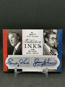 2008-09 OPC Premier Inductions Ink Dual #2PIHB Jean Beliveau/Gordie Howe EXCH/5