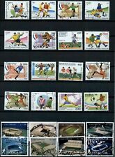 Football Thematics Page Full Of Stamps #W1033