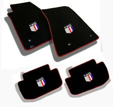 NEW BLACK FLOOR MATS 2010-2015 Camaro Embroidered 45th anniversary Logo All 4 RB