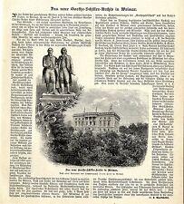 Le nouveau Goethe-Schiller-Archives de la Grande-Duchesse Sophie V. Saxe-Weimar c.1896