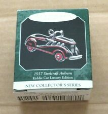 1937 Steelcraft Auburn Kiddie Car Luxury Edition # 1 1998 Hallmark Ornament