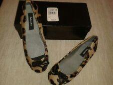 Damas Marrón/Beige Estampado de Leopardo estilo bailarina zapatos talla UK5/EU 38.! nuevo!