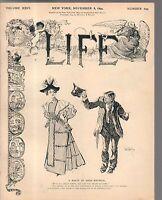 1894 Life November 8-Philadelphia buildings look horrible; Arthur Conan Doyle