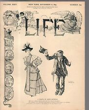 1894 Life November 8-Philadelphia buildings look horrible; Arthur Conan Doyle