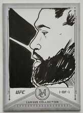 2019 Topps Museum UFC 1-OF-1 Curtis Blaydes Canvas Card