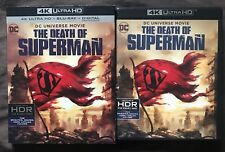 DC COMICS THE DEATH OF SUPERMAN 4K ULTRA HD + DVD + SLIPCOVER FREE SHIPPING