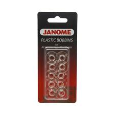 NEW Janome 10 Pack Plastic Bobbins By Spotlight