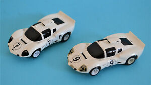 2 x Chaparral #7 & #9 HP-7 chassis Tomy Tyco Faller good condition VHTF