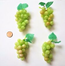 "Mini Grapes Lot of 4 Plastic Grapes Wedding Favor Fruit Wine Decor 3"" Green New"