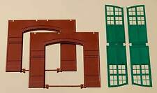 Auhagen H0 Système modulaire 80505: 2 Cloisons 2326A, rouge + Portes, vert