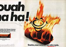 PUBLICITE ADVERTISING 065  1976  TOTAL  Buches pour cheminées FLAMBOR ( 2p)